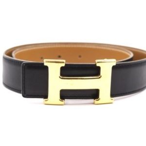 Gold 32mm Classic H Reversible Leather Size 70Belt